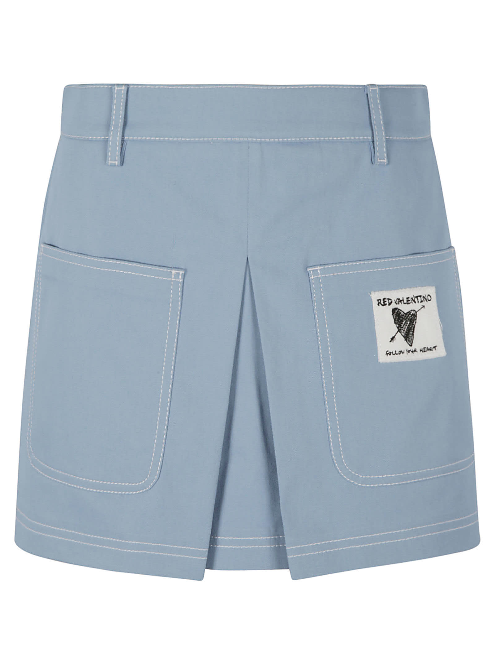 RED Valentino Front Pocket Logo Patched Shorts