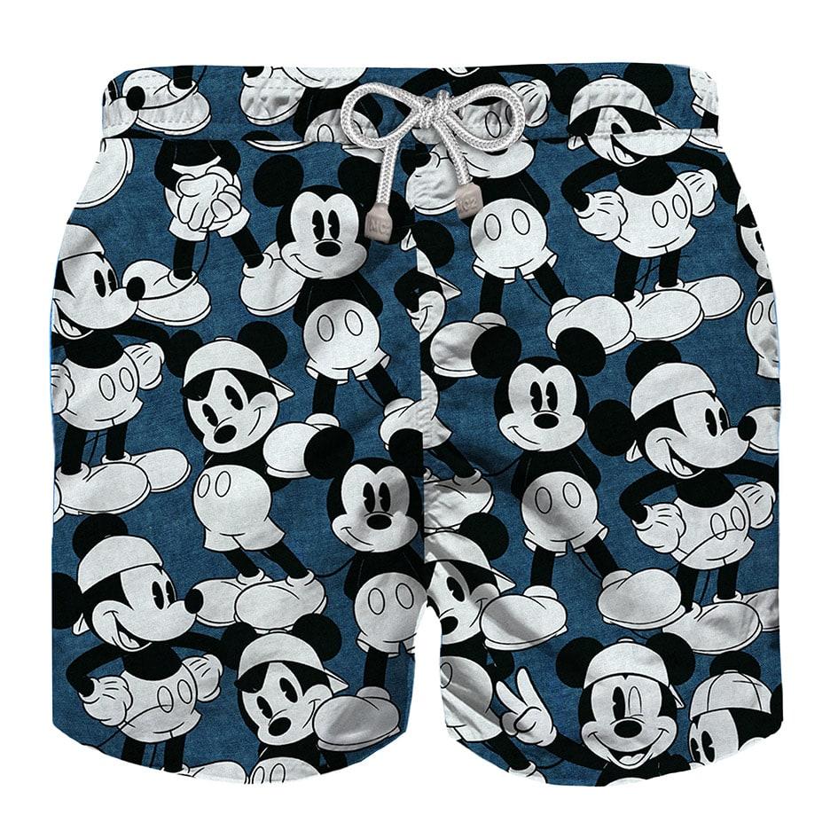 MC2 Saint Barth Mickey Mouse Disney© Indigo Boy Swim Trunks