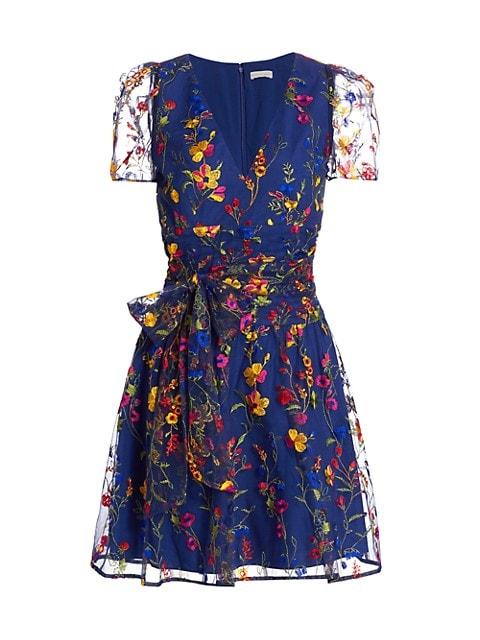 Puff-Sleeve Cocktail Dress