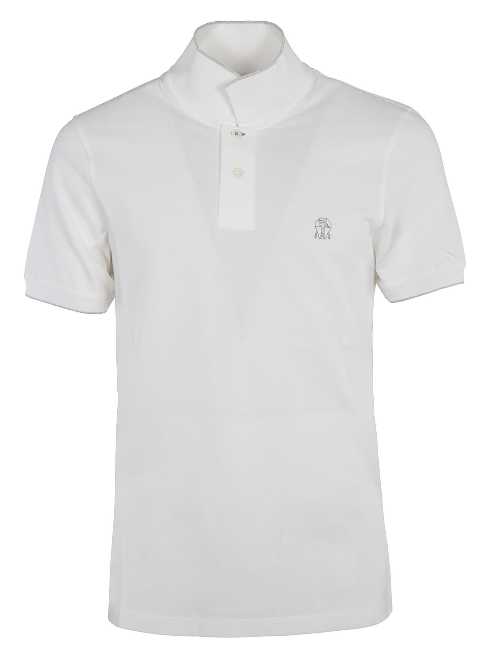 Brunello Cucinelli Chest Logo Polo Shirt
