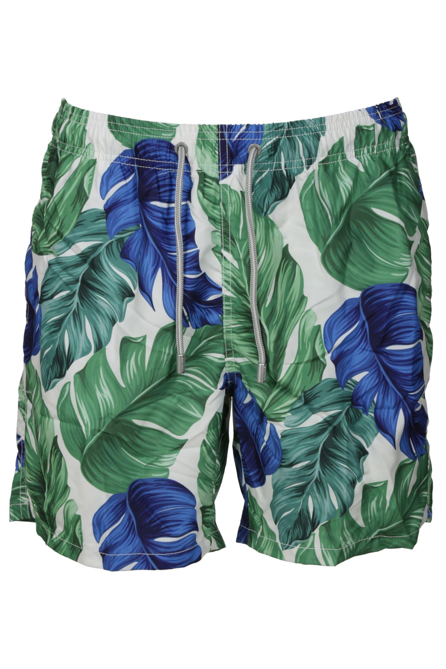 MC2 Saint Barth Banana Leaf Swim Shorts