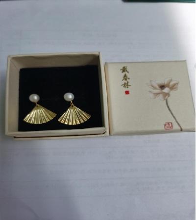 天然太湖珍珠耳環