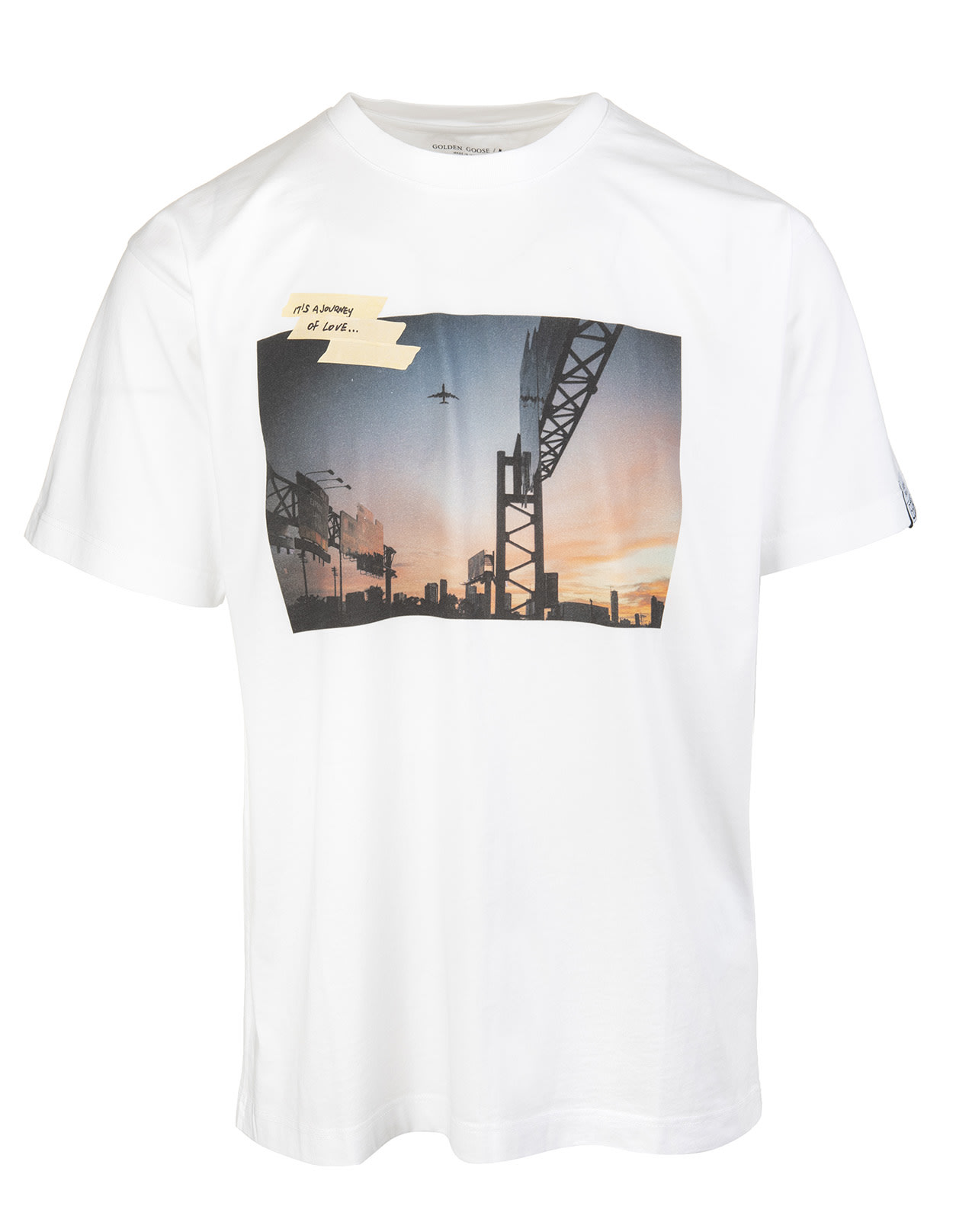 Golden Goose Man Artu White T-shirt Dream Maker Collection With Print