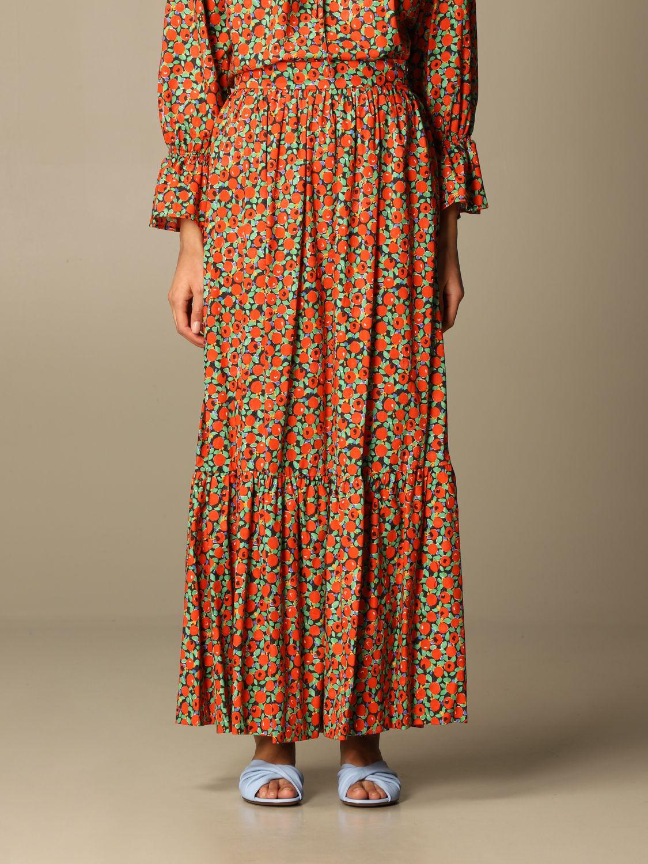 Lautre Chose Skirt Lautre Chose Wide Skirt In Patterned Cotton