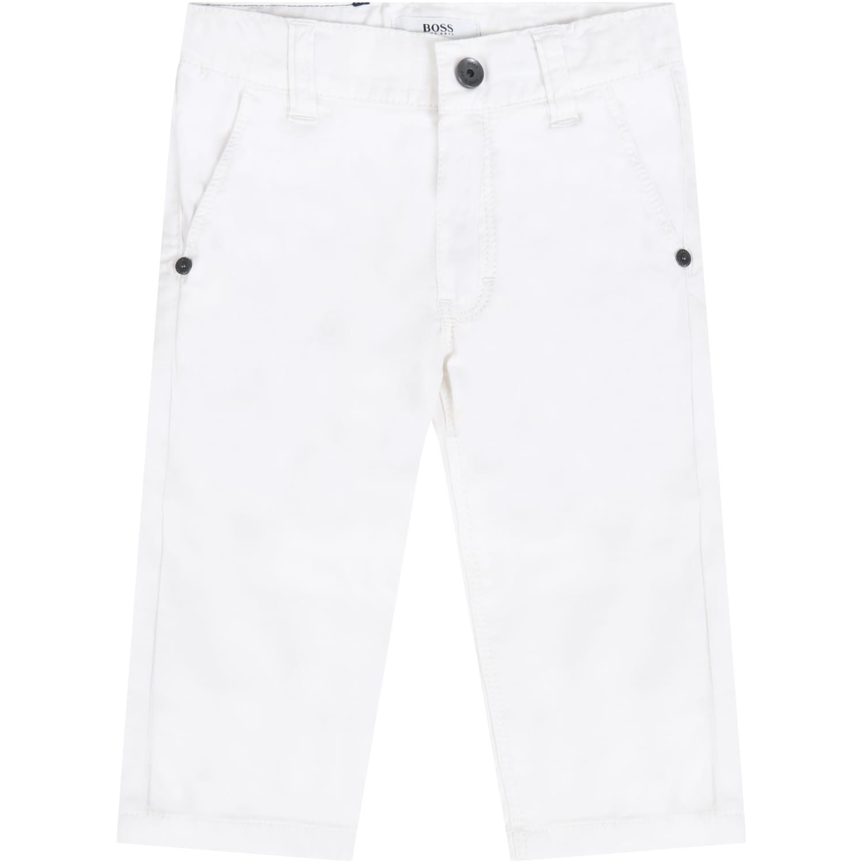 Hugo Boss White Trouser For Babyboy