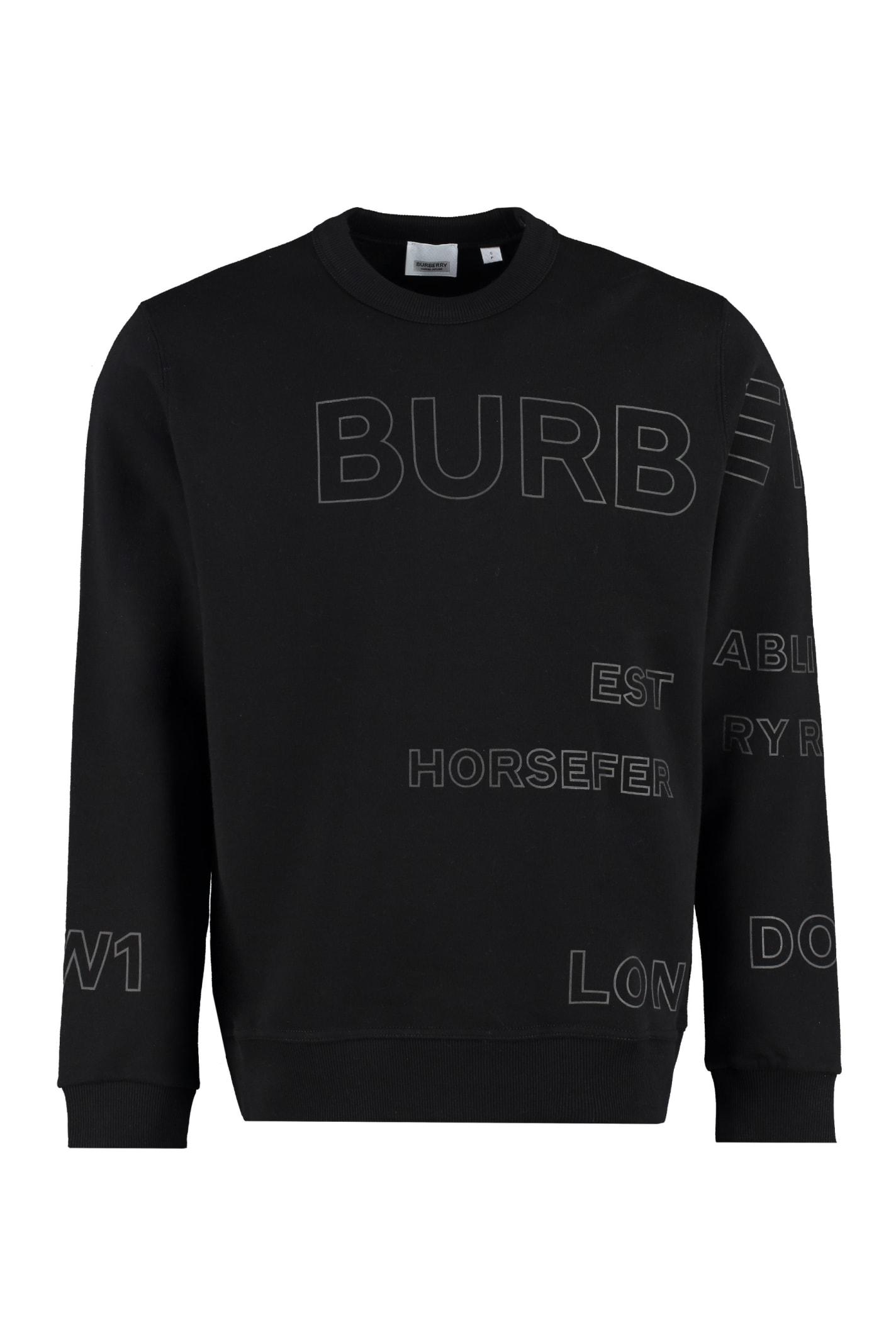 Burberry Logo Detail Cotton Sweatshirt