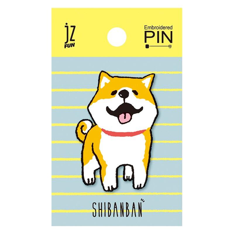 【618購物節 最低五折起】微笑柴犬刺繡造型別針(微笑)