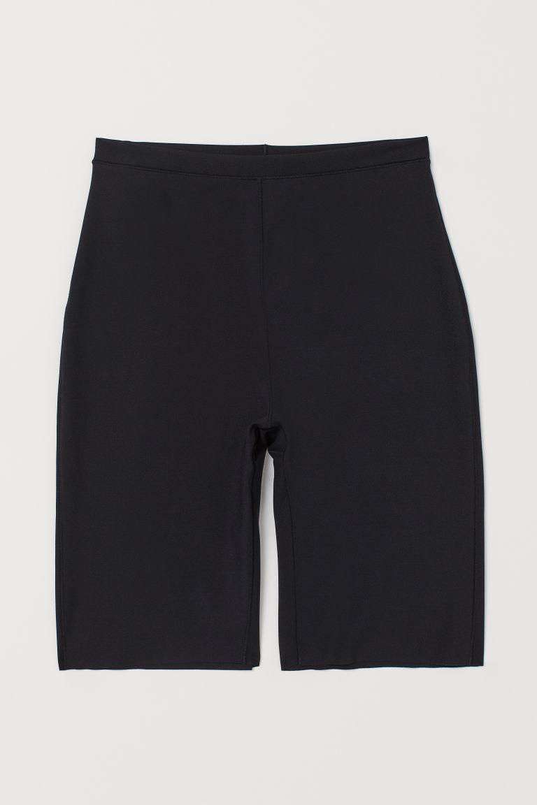 H & M - 緊緻塑身短褲 - 黑色