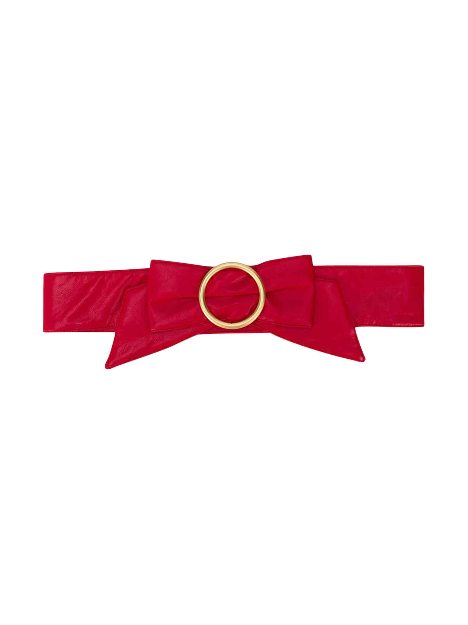 Philosophy di Lorenzo Serafini Kids Red Belt With Bow