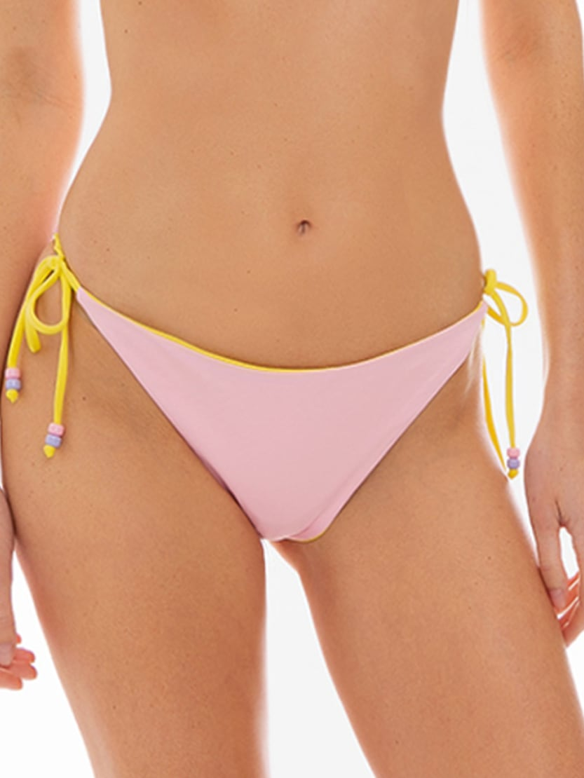 MC2 Saint Barth Double Face Pastel Pink And Yellowslip