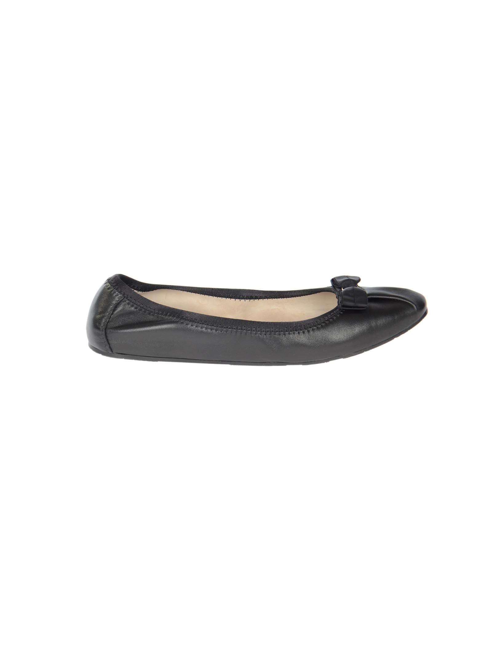 Salvatore Ferragamo My Joy Calf Leather Flat Shoes