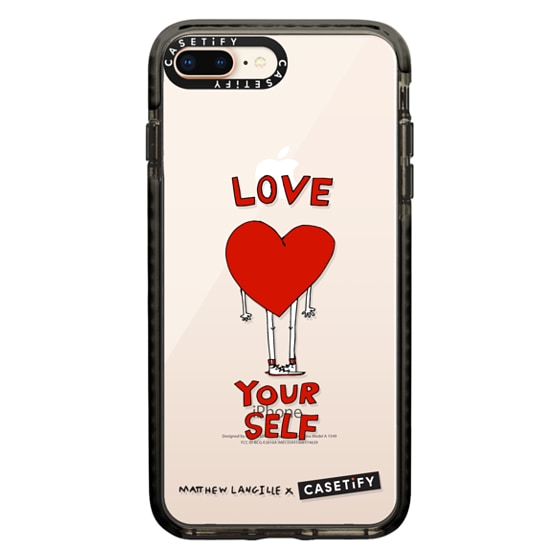CASETiFY iPhone 8 Plus Impact Case - Love Yourself by Matthew Langille