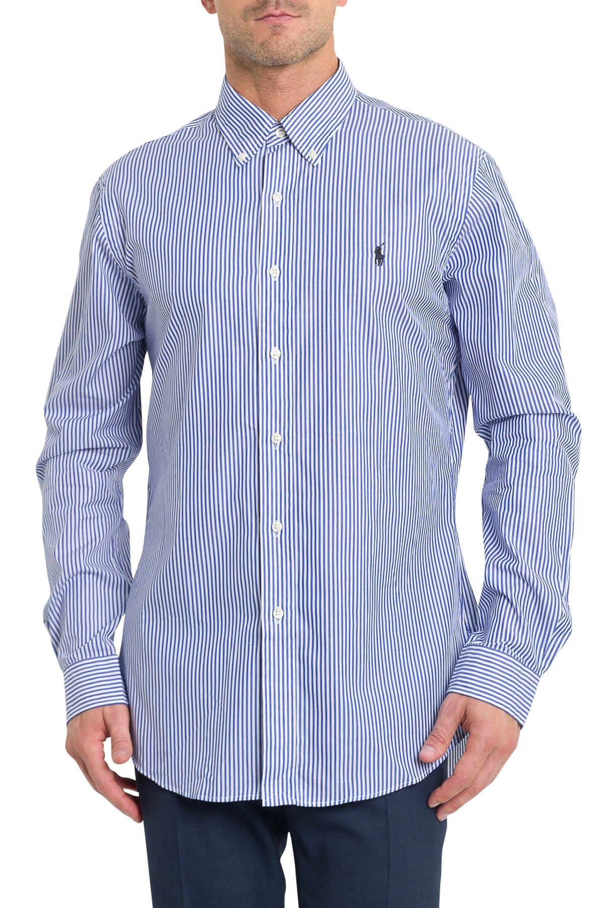 Ralph Lauren Striped Shirt With Embroidered Logo