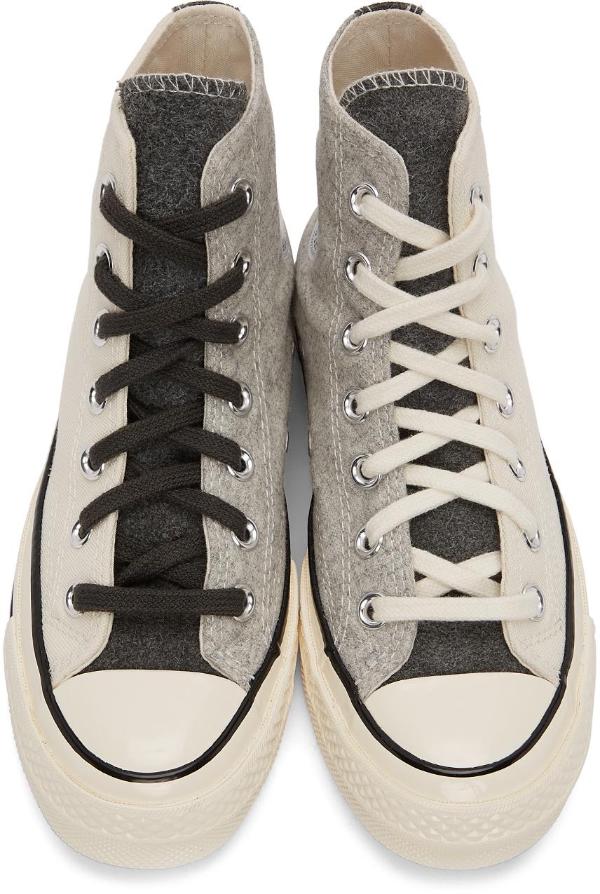 Converse SSENSE 独家发售灰白色 & 灰色 Chuck 70 高帮运动鞋