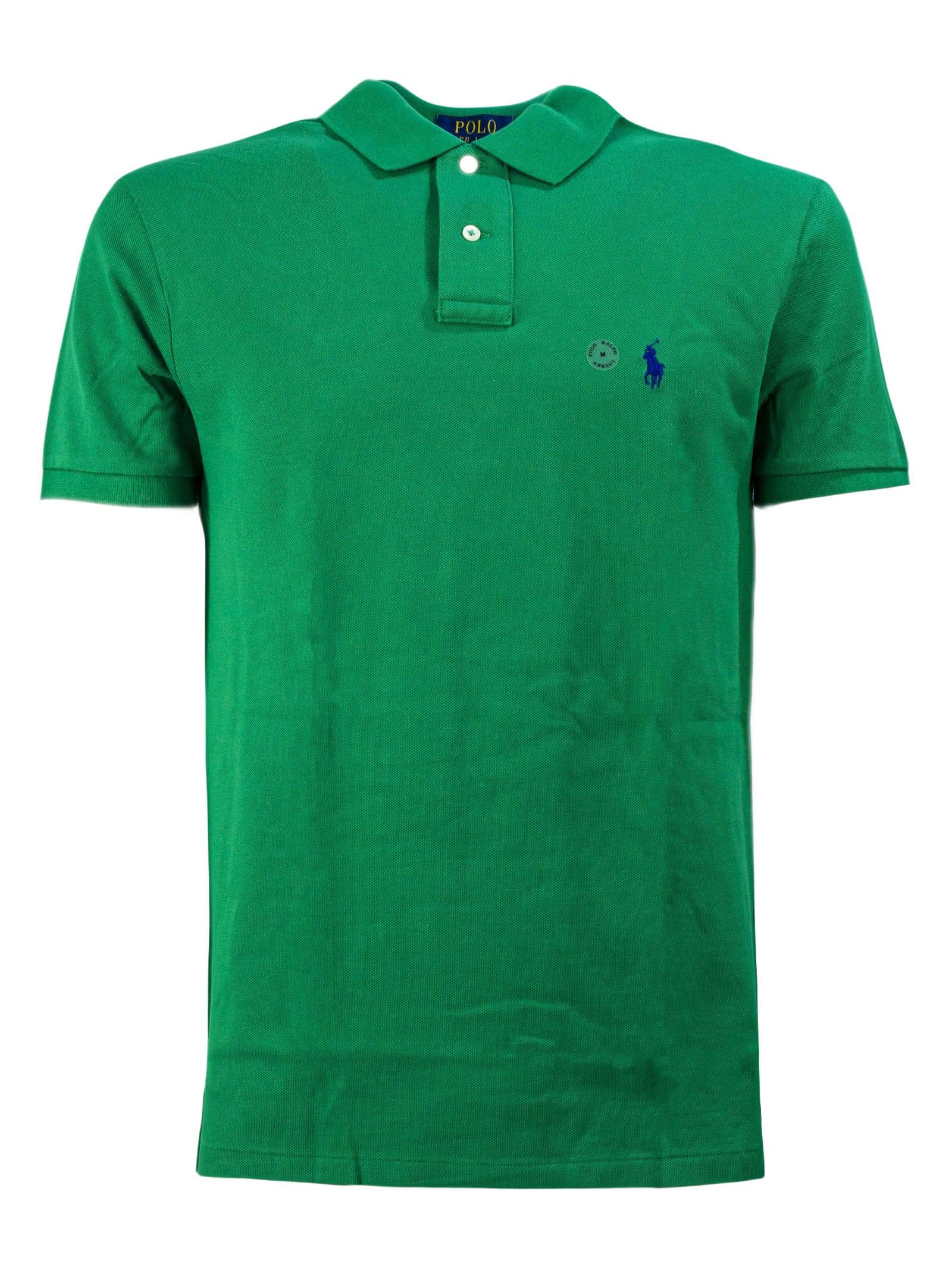 Ralph Lauren Green Cotton Polo Shirt