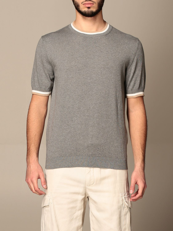 Eleventy Sweater Eleventy Crewneck Sweater In Cotton