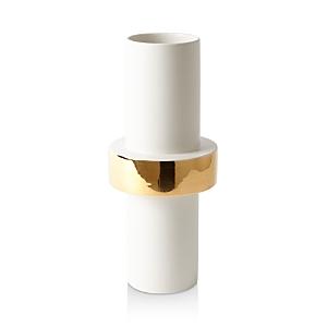 Global Views Midline Goldtone-Ring Vase
