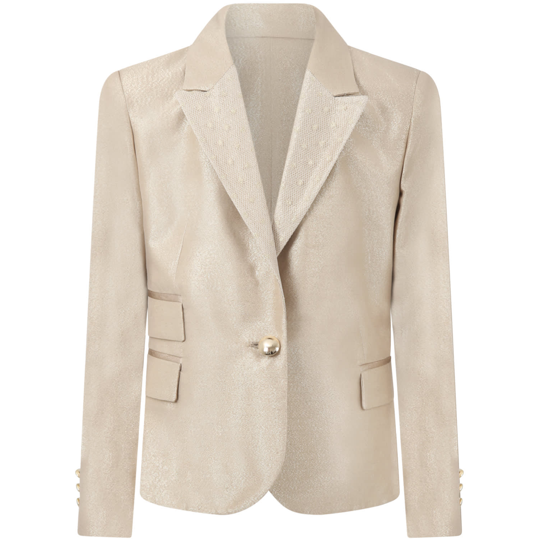 Elie Saab Gold Jacket For Girl