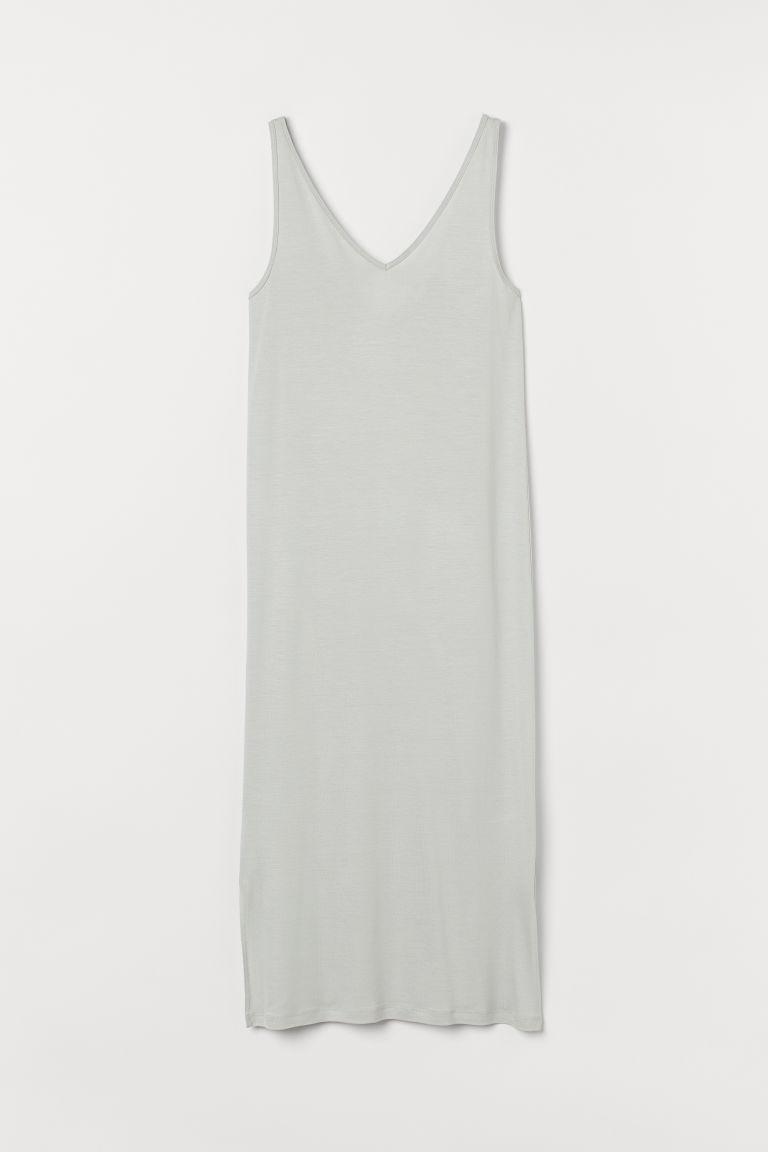 H & M - 無袖平紋洋裝 - 綠色