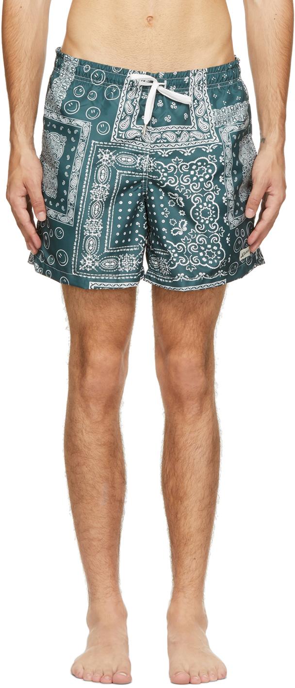 Bather 绿色 Bandana 泳裤