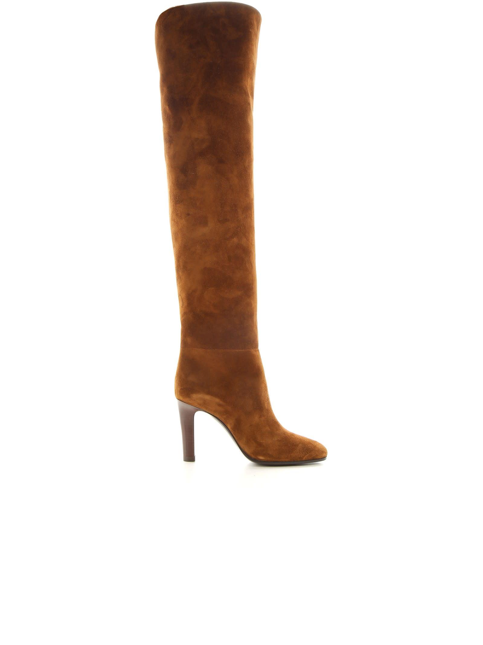 Saint Laurent Brown Suede Blu 90 Boots