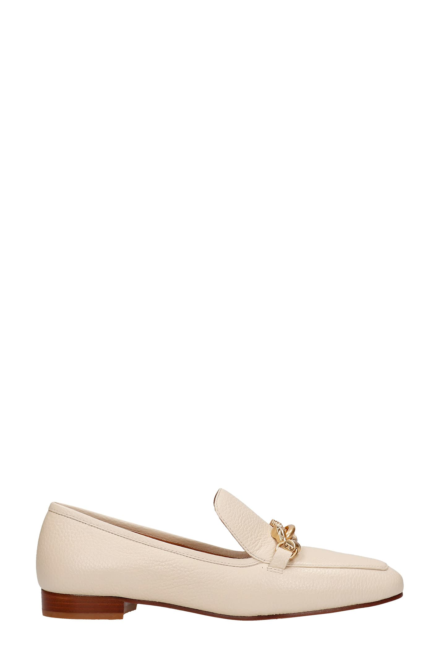 Tory Burch Jess Loafers In Beige Leather