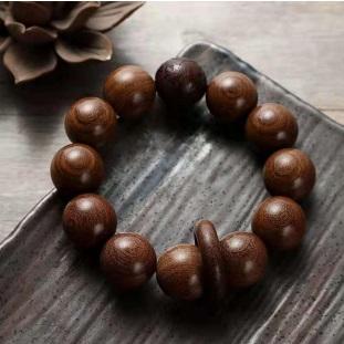 金絲檀精雕貔貅手串大珠手鍊(12顆)