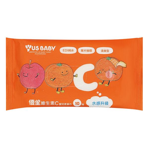 優生維生素C嬰兒柔濕巾10抽