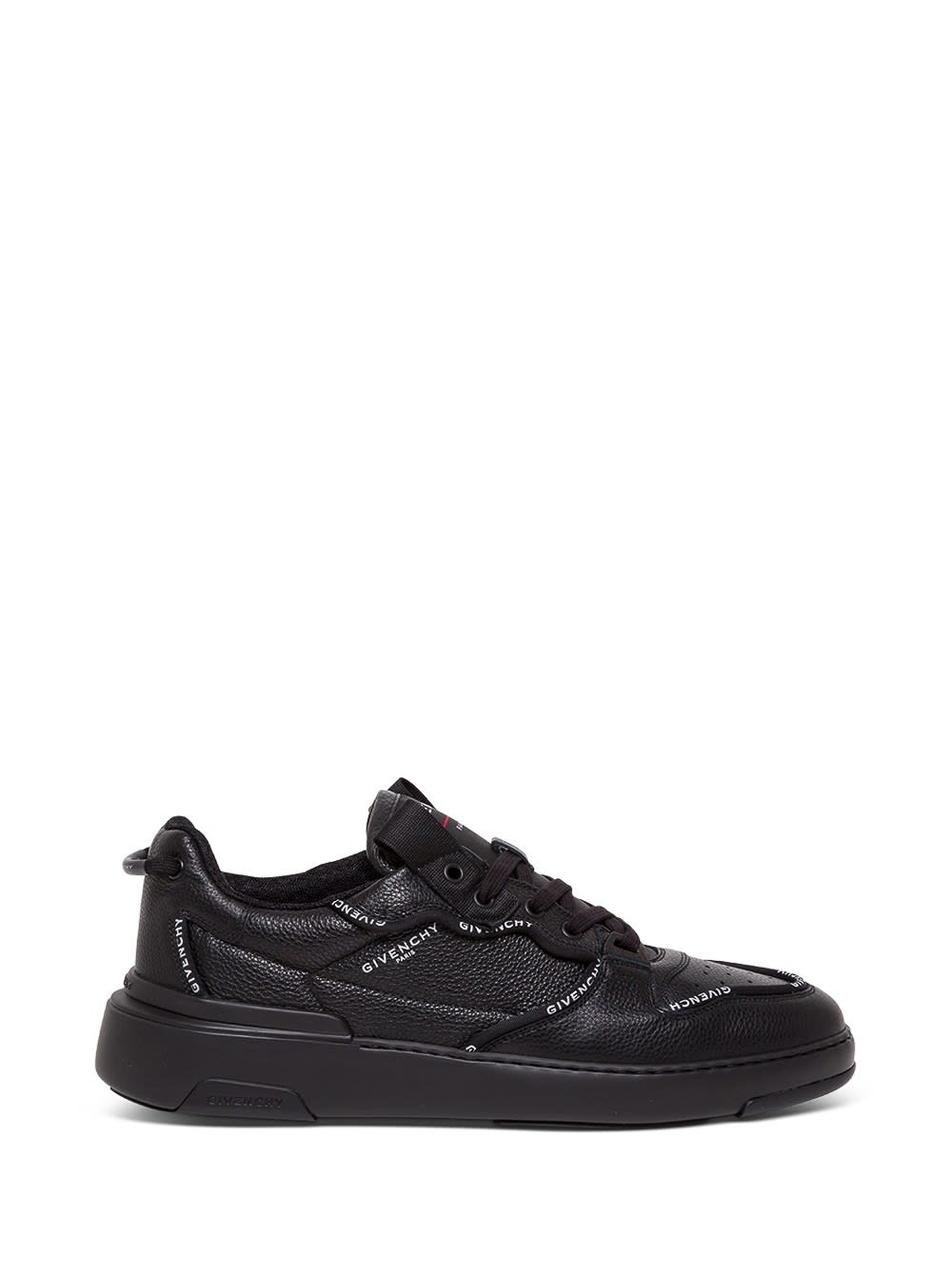 Givenchy Black Leather Sneakers With Contrasting Logo