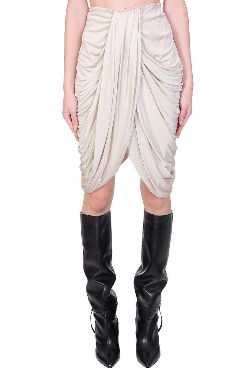 Isabel Marant Dotina Skirt In Beige Viscose