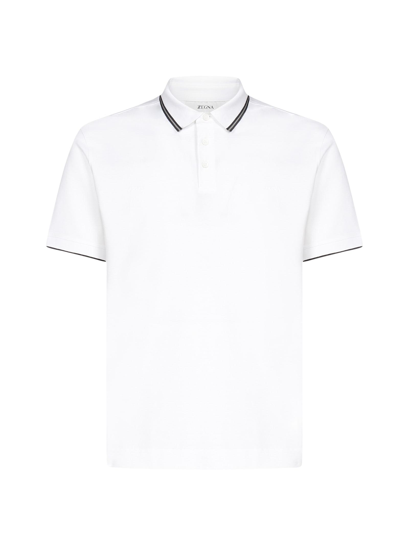 Z Zegna Logo Cotton Polo Shirt