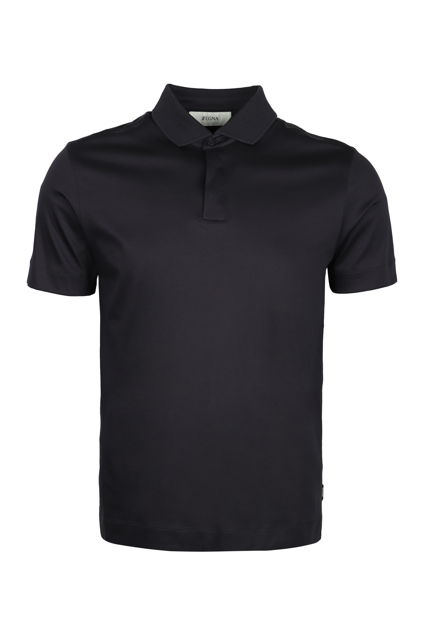Z Zegna Short-sleeved Cotton Polo Shirt