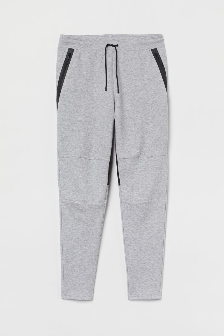H & M - 運動慢跑褲 - 灰色
