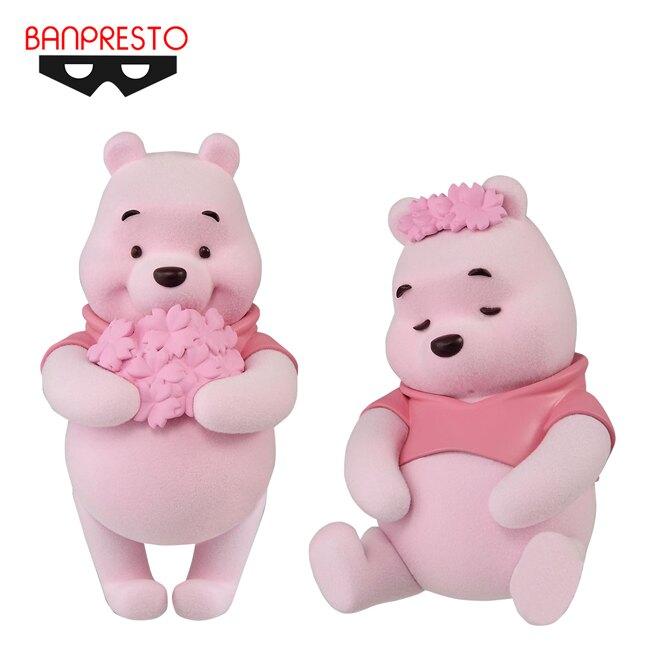 【日本正版】毛茸茸 小熊維尼 櫻花Ver. 公仔 模型 Fluffy Puffy 迪士尼 Banpresto 萬普