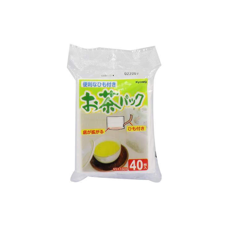 日本製Kyowa 便攜提繩式茶葉沖泡濾茶紙-40入/多功能茶包袋