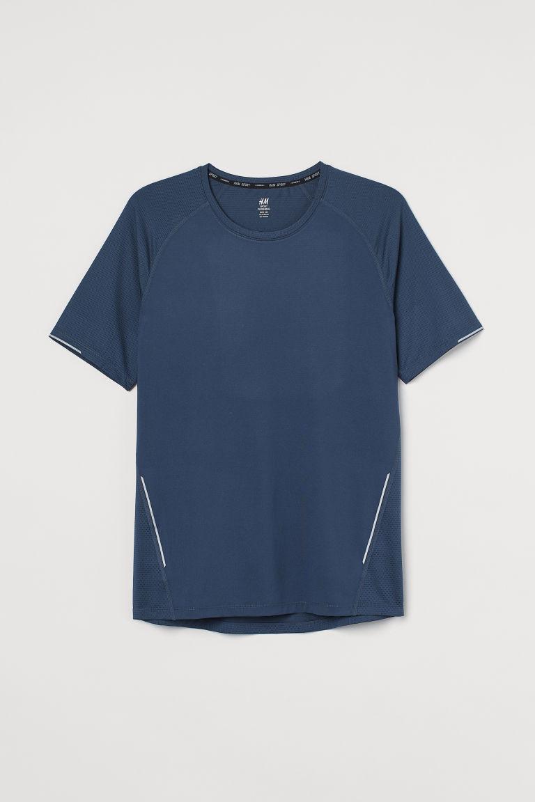 H & M - COOLMAX®纖維跑步上衣 - 藍色