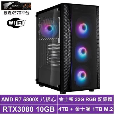 技嘉X570平台[聖殿星神]R7八核RTX3080獨顯電玩機