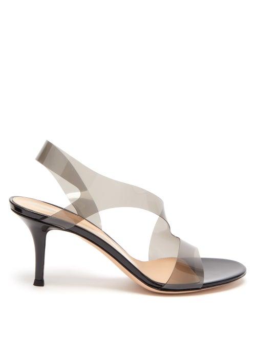 Gianvito Rossi - Metropolis 70 Plexi & Leather Slingback Sandals - Womens - Black