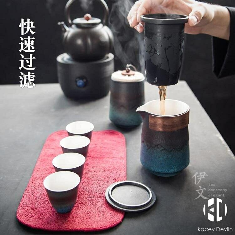 便攜式快客杯 旅行功夫茶具套裝一壺四杯陶瓷茶葉罐茶壺