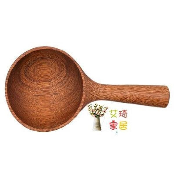 水瓢 日式米勺水瓢掛式油勺創意帶手柄餐盤木碗大木勺廚房木制餐具