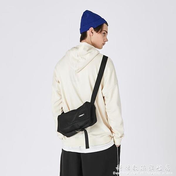 潮牌挎包休閒單肩包男包小包日系學生側背包韓版工裝包女 科炫數位
