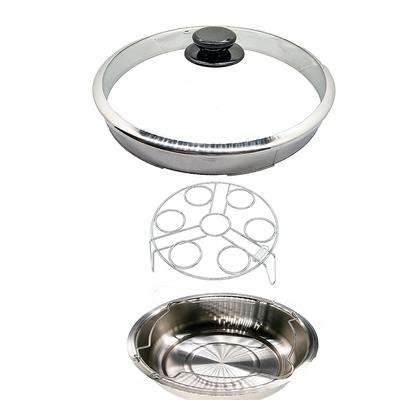 天蠶304不鏽鋼蒸蛋架組(10人份電鍋適用 加高電鍋蓋 蒸蛋架 高蒸盤 )