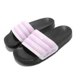 adidas 拖鞋 Adilette Shower 套腳 童鞋 愛迪達 基本款 簡約 夏日 輕便 中童 黑 粉紫 FY8843 [ACS 跨運動]