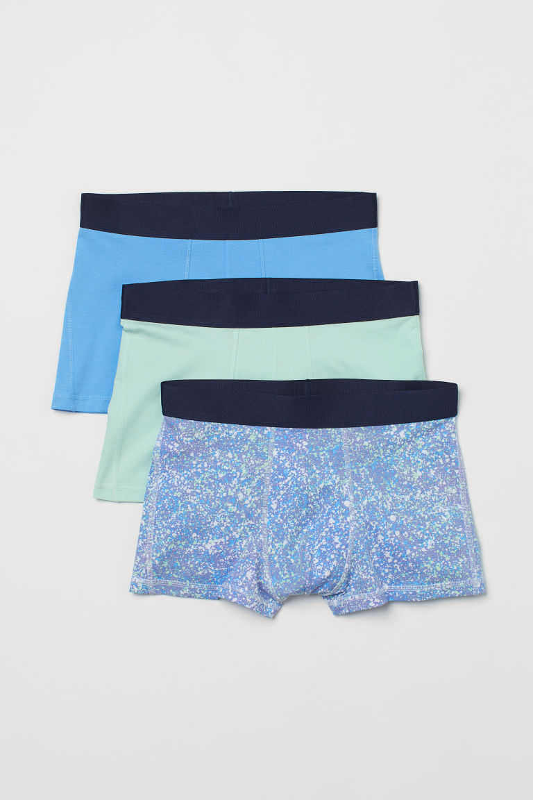 H & M - 3件入COOLMAX®纖維四角褲 - 綠色