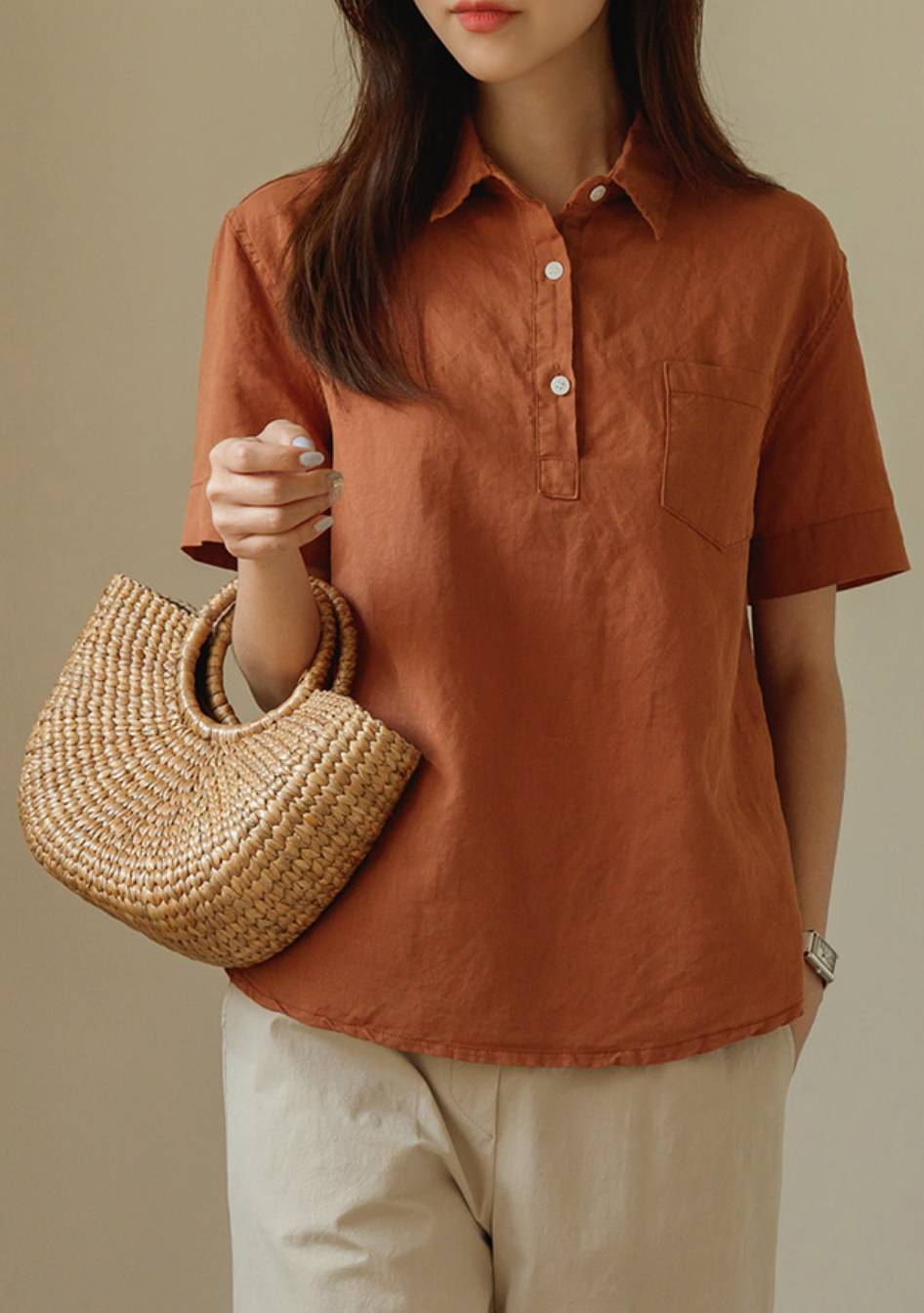 The Road Is Life Linen Shirt