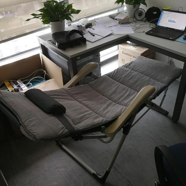 躺椅陽台家用休閒曬太陽沙灘椅摺疊午休午睡床懶人沙發靠背椅子 「免運」