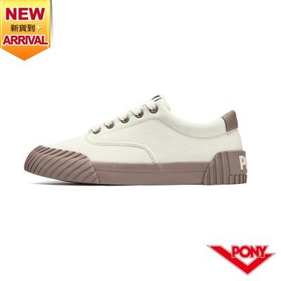 【PONY】SUBWAY2 雙色滑板鞋 帆布鞋 女款-藕粉