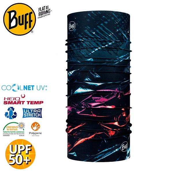 【BUFF 西班牙 Coolnet抗UV頭巾《夜幕交錯》】125653/涼感/圍脖/帽子/口罩/圍巾