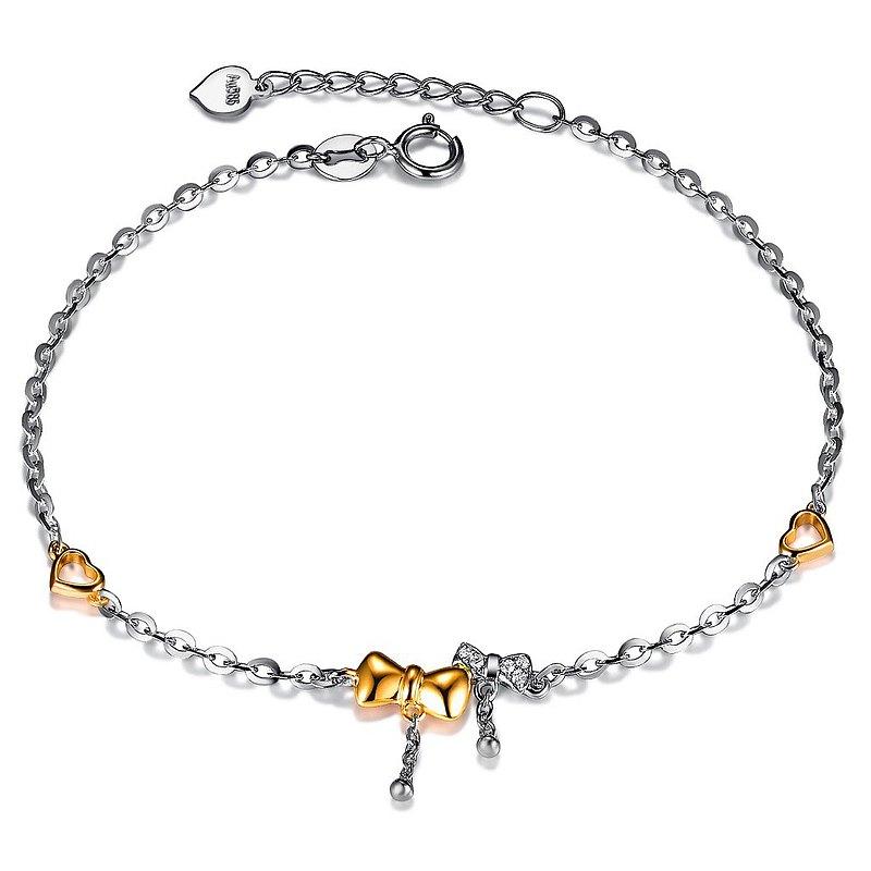可愛魅力 14K金鑽石 女用手鍊