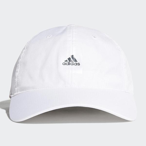 Adidas LOGO 帽子 老帽 吸濕排汗 可調式 白【運動世界】GN2003